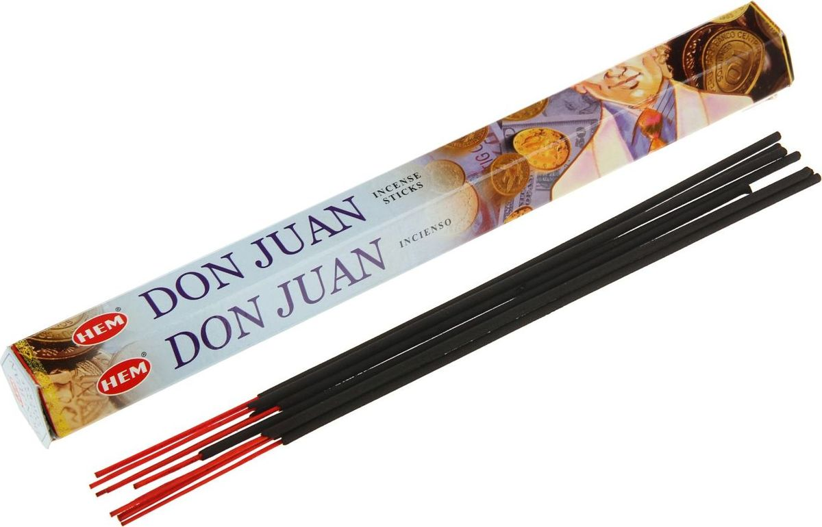 Фото - Благовония HEM Don Juan (Дон Жуан), 20 палочек ruffle hem spot top