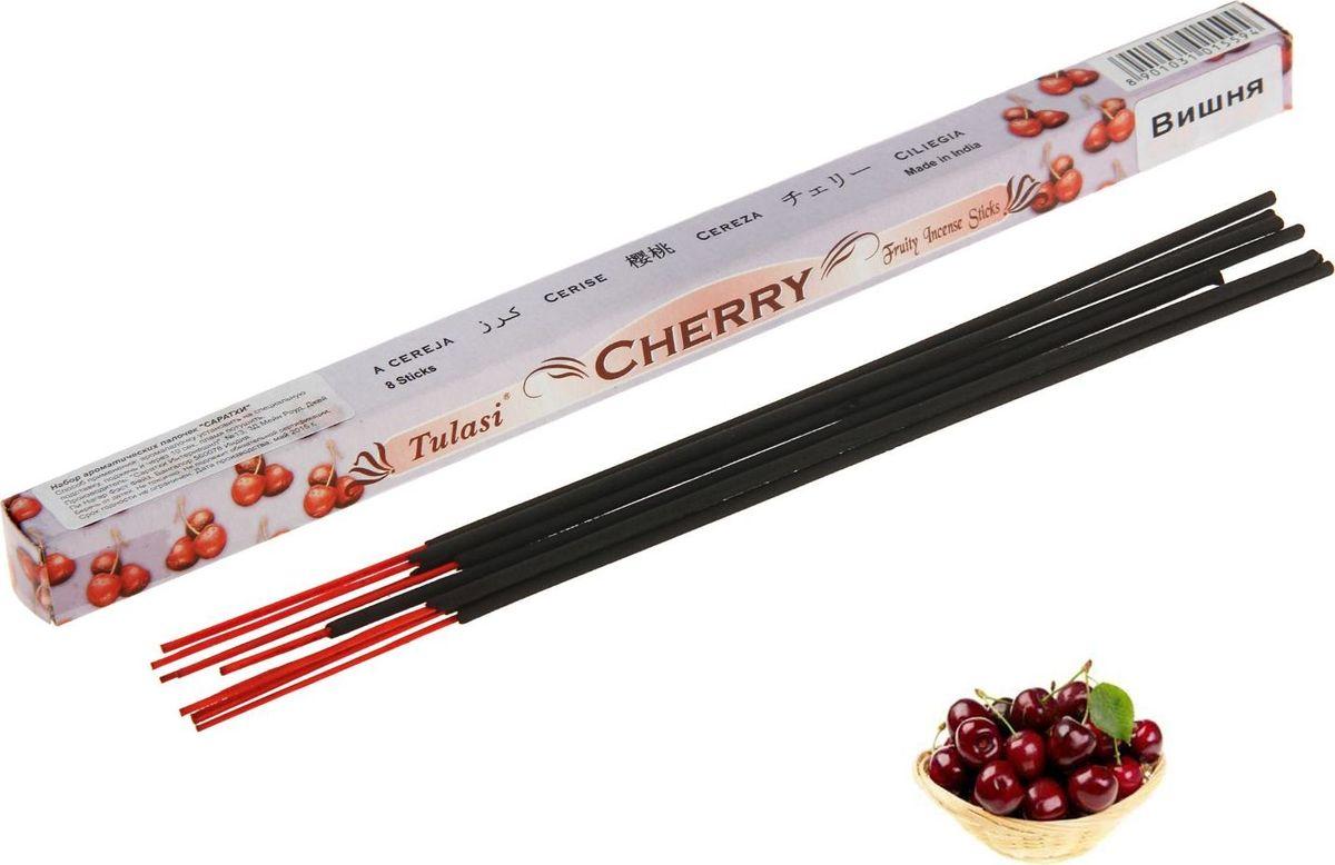 Палочки ароматические Sarathi Cherry, 8 шт благовония sarathi индия цитронелла от комаров citronella 8 шт