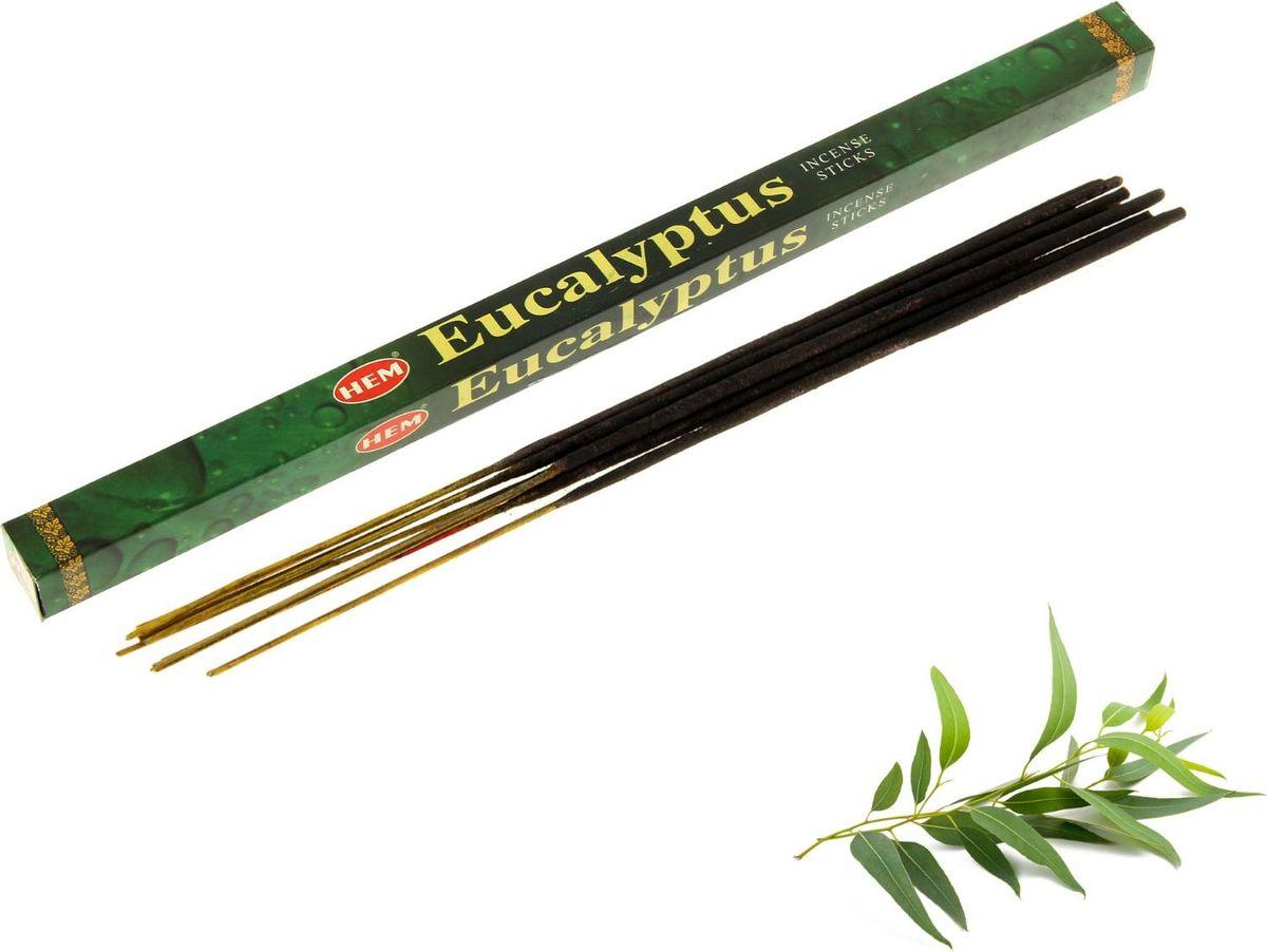 Палочки для благовоний HEM Eucalyptus, 8 шт690319Довольно резкий, сильный аромат с выраженными терпкостью и вязкостью. Усиливает умственные способности, улучшает память, поднимает настроение, убирает сонливость. Способен дезинфицировать помещение и убивать бактерии. Известен как отличное противовоспалительное и антивирусное средство. Оказывает помощь при астме. Эффективен при борьбе с насекомыми.Уважаемые клиенты! Обращаем ваше внимание, что на фото присутствует картинка для визуализации аромата.