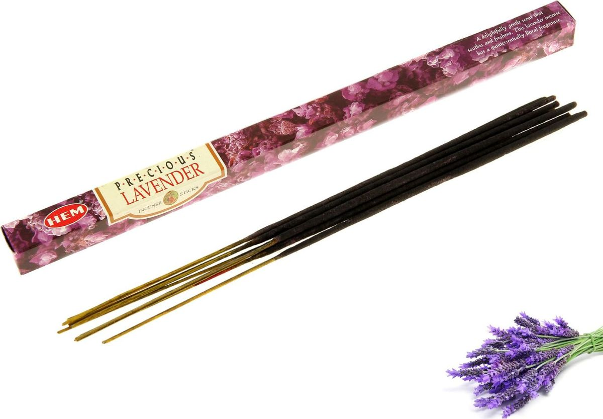 Палочки для благовоний HEM Precious Lavender, 8 шт leaf print ruffle hem cami pajama set