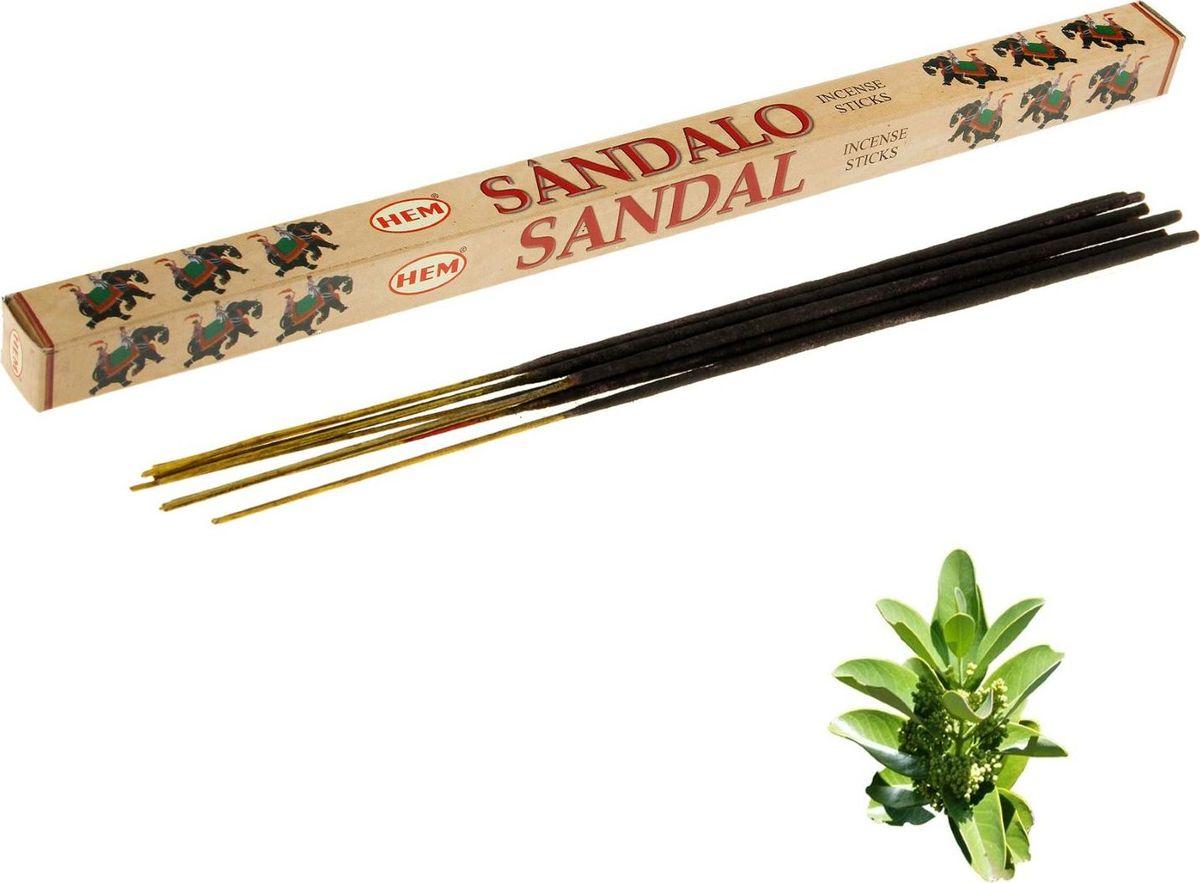 Благовония HEM Sandal (Сандал), 8 палочек leaf print ruffle hem cami pajama set