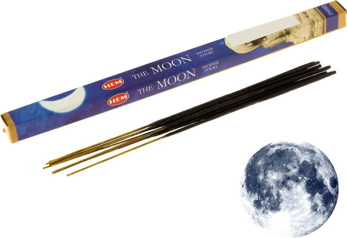 Благовония HEM The Moon (Луна), 8 палочек trumpet sleeve ruffle hem surplice dress