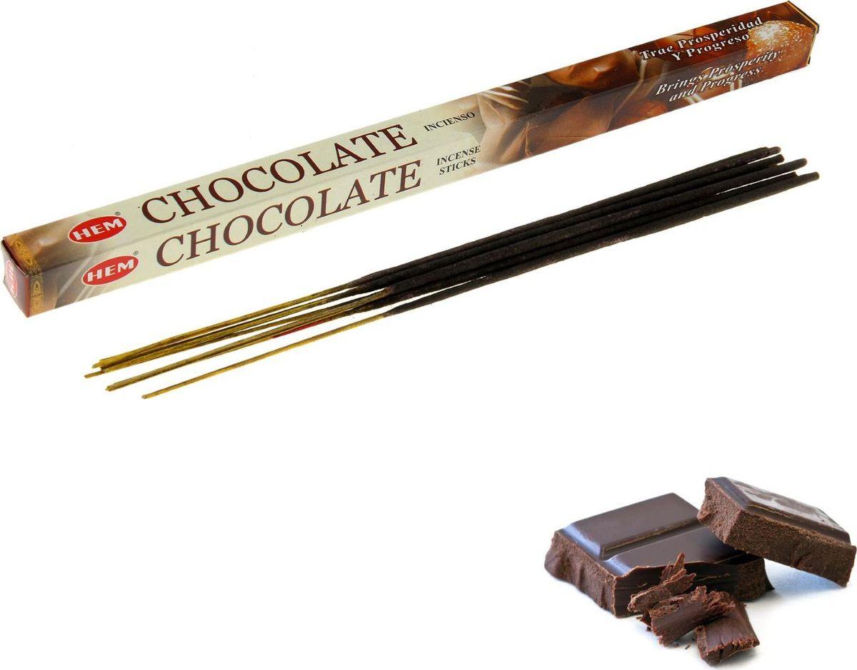 Благовония HEM Chocolate (Шоколад), 8 палочек raw hem bell bottoms jeans