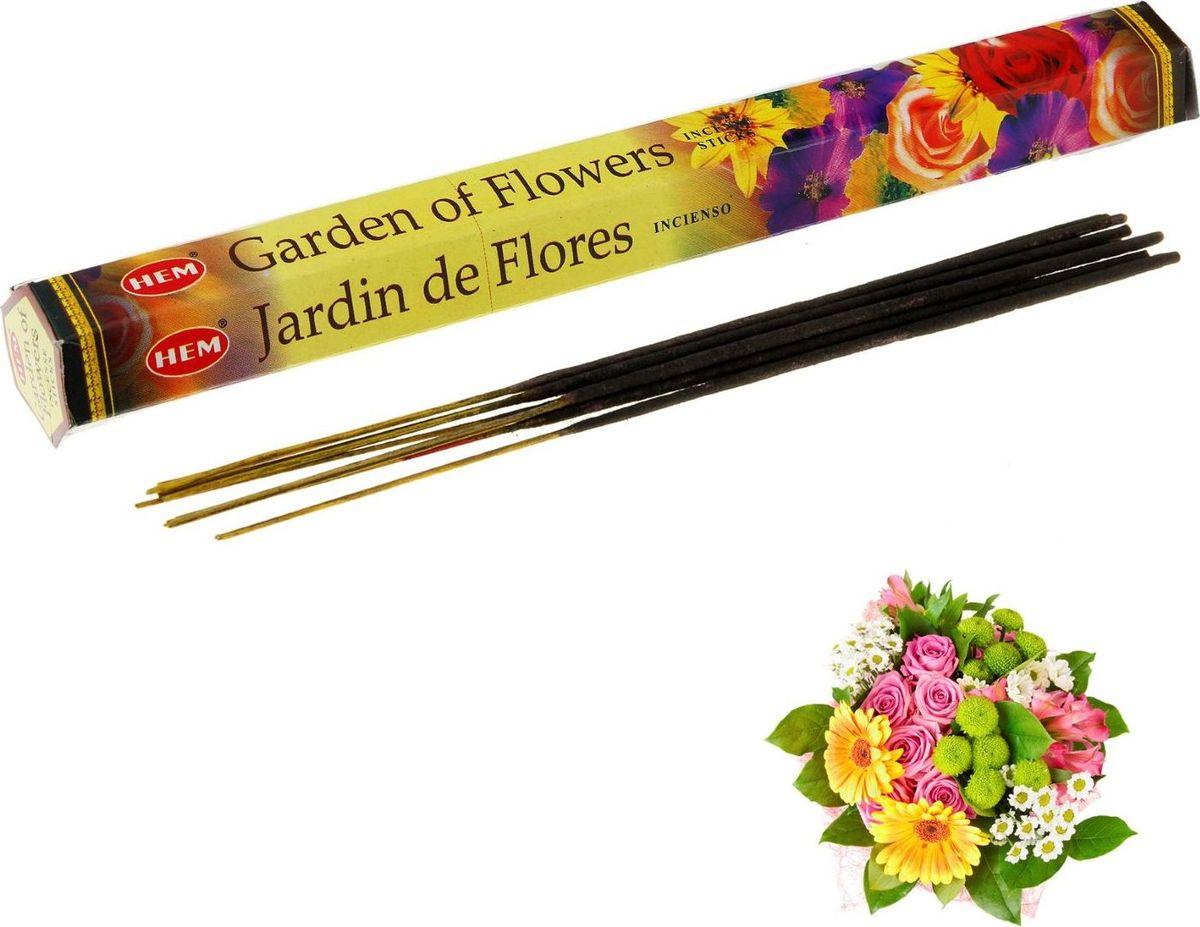 Фото - Благовония HEM Garden of Flowers (Цветочный сад), 20 палочек ruffle hem spot top
