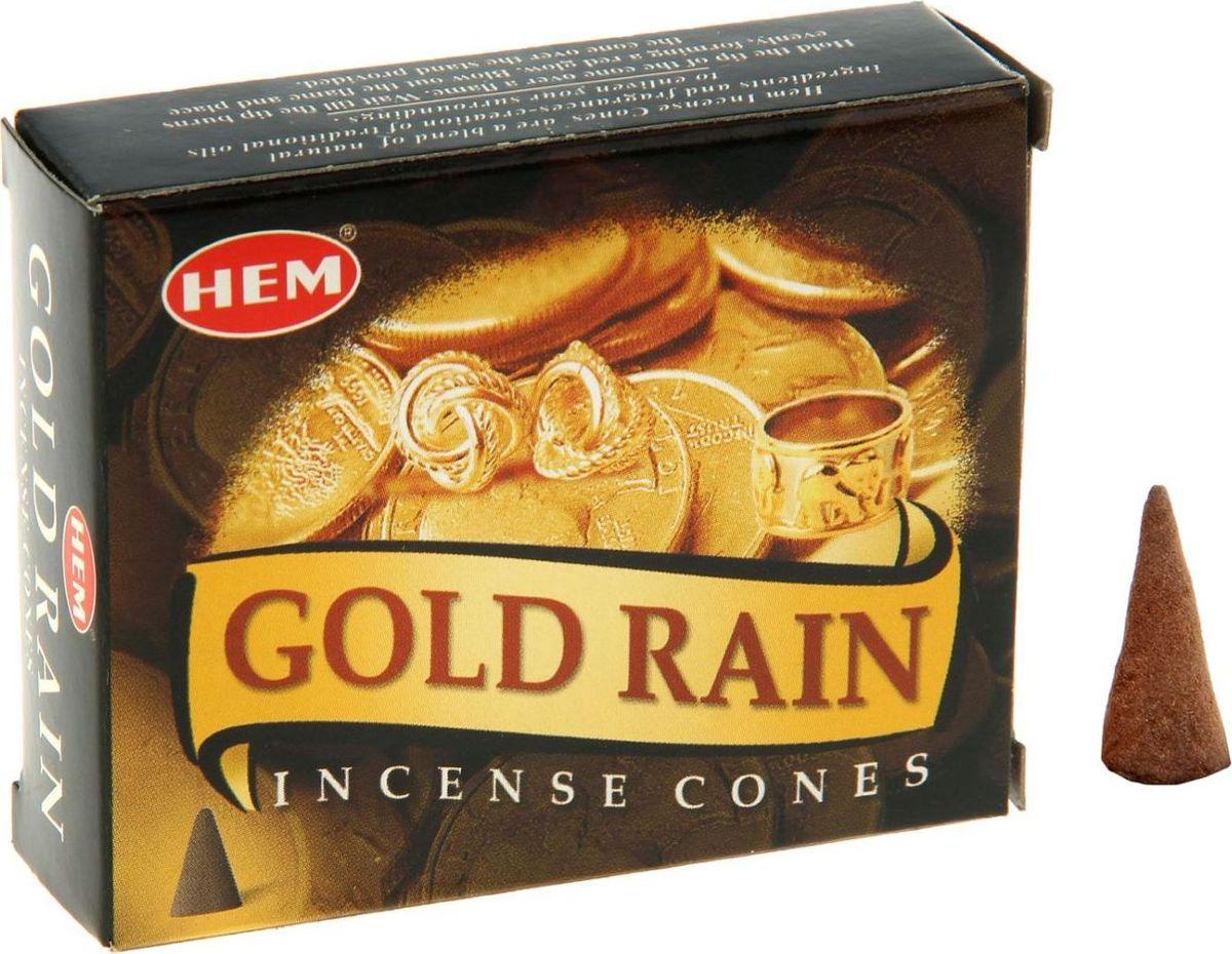 Благовония HEM Gold Rain (Золотой дождь), 10 конусов raw hem bell bottoms jeans