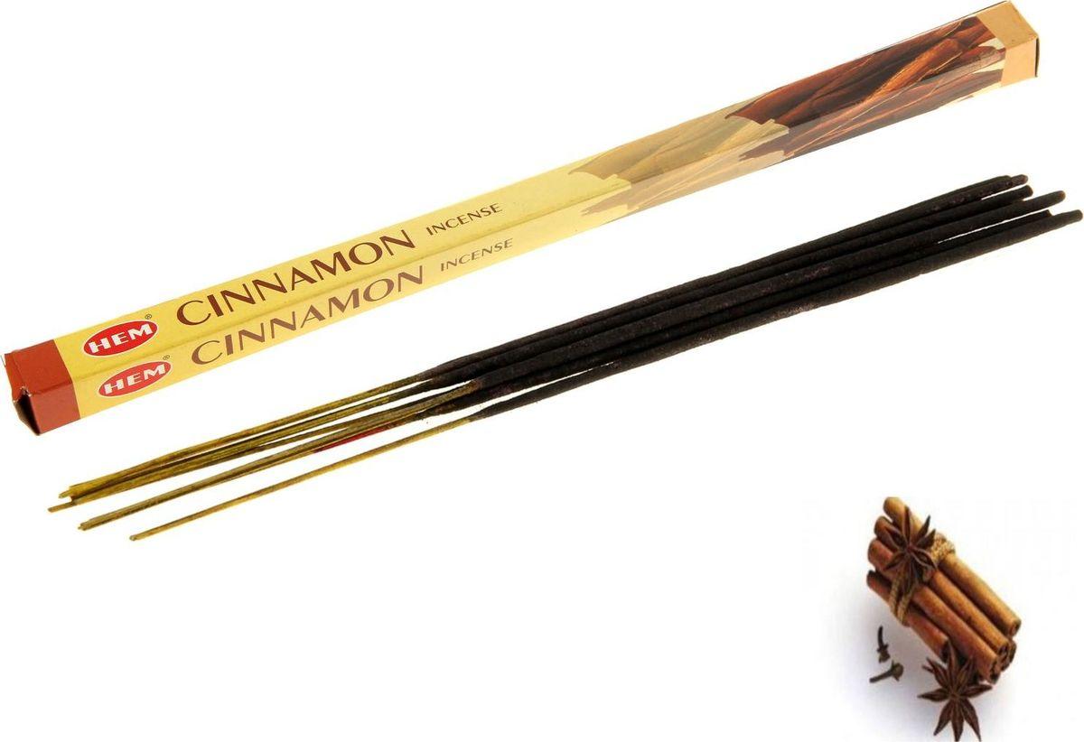 Палочки для благовоний HEM Cinnamon, 8 шт self tie dip hem dress