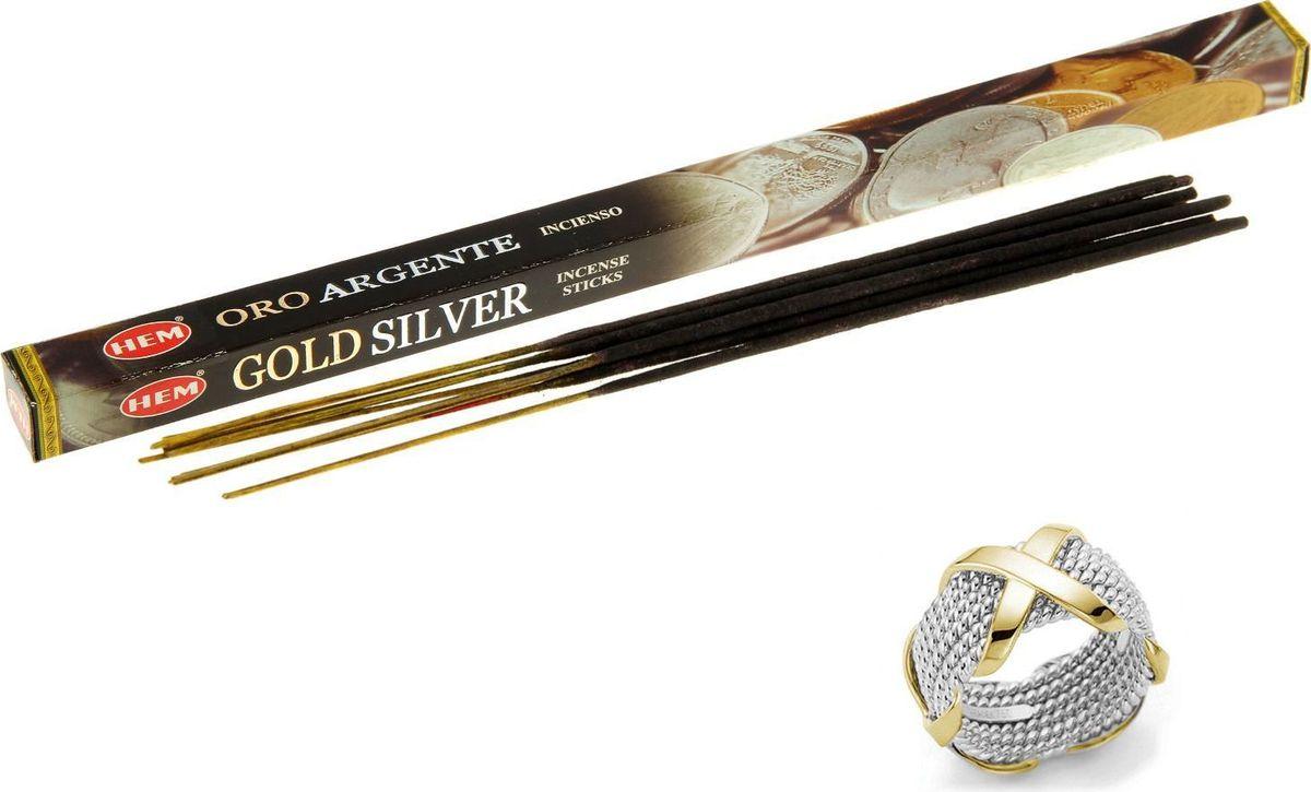 Фото - Благовония HEM Gold & Silver (Золото и серебро), 8 палочек lace hem shorts