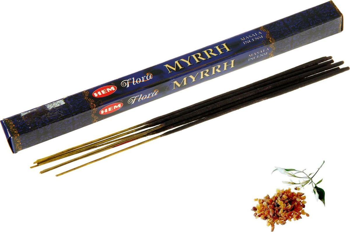 Благовония HEM Flora Masala Myrrh (Мирра), 8 палочек дюжикова а ред сказки на ночь