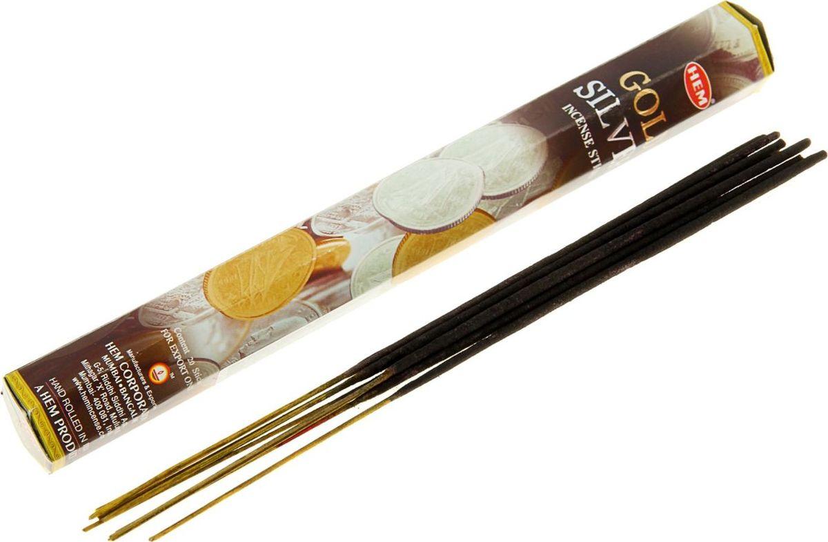 Благовония HEM Gold & Silver (Золото и серебро), 20 палочек trumpet sleeve ruffle hem surplice dress