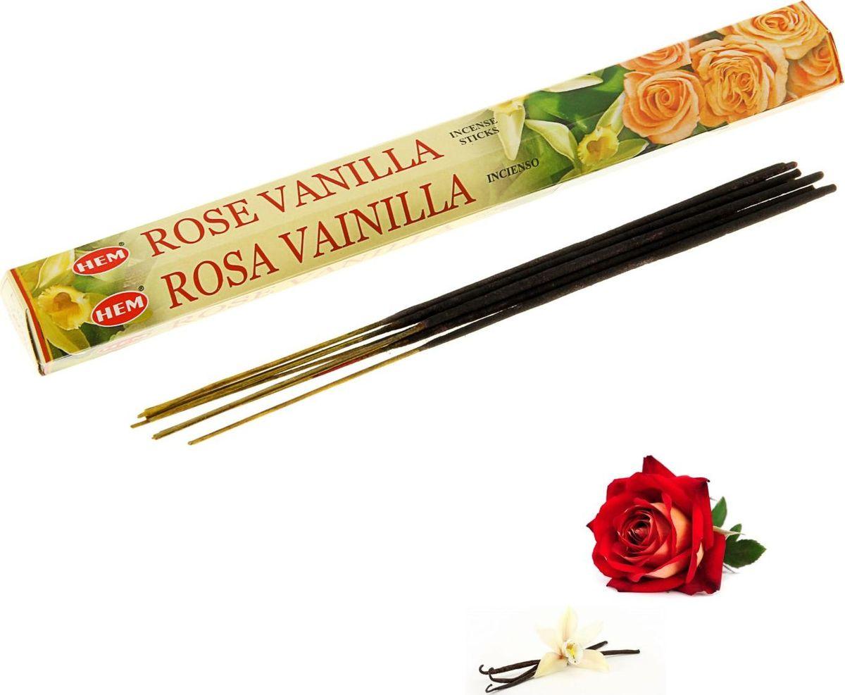 Благовония HEM Vanilla-Rose (Ваниль-роза), 20 палочек благовония hem open roads открытые дороги 20 палочек