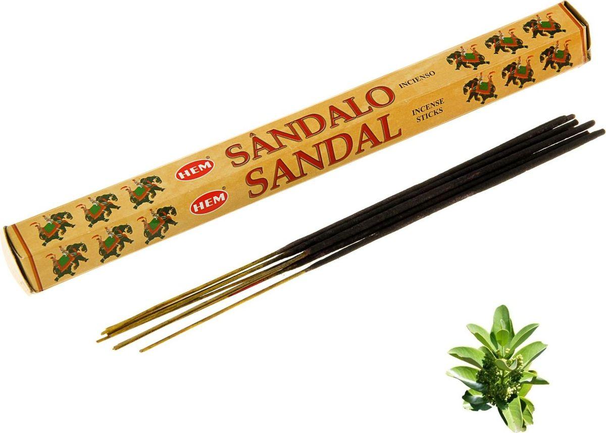 Благовония HEM Sandal (Сандал), 20 палочек leaf print ruffle hem cami pajama set