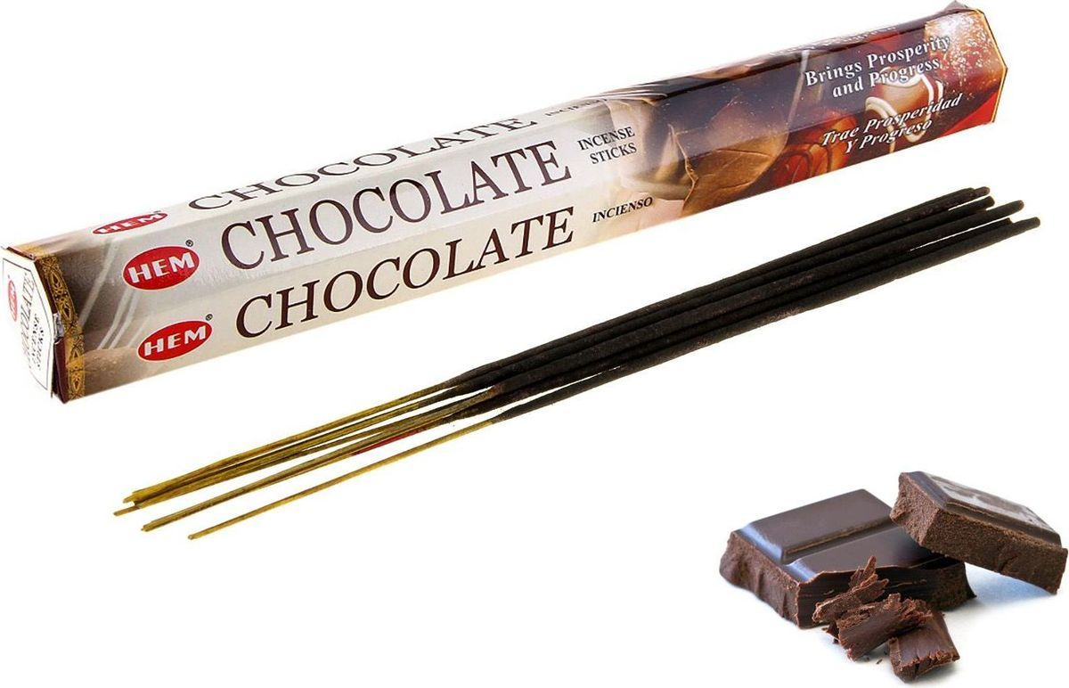 Фото - Благовония HEM Chocolate (Шоколад), 20 палочек lace hem shorts