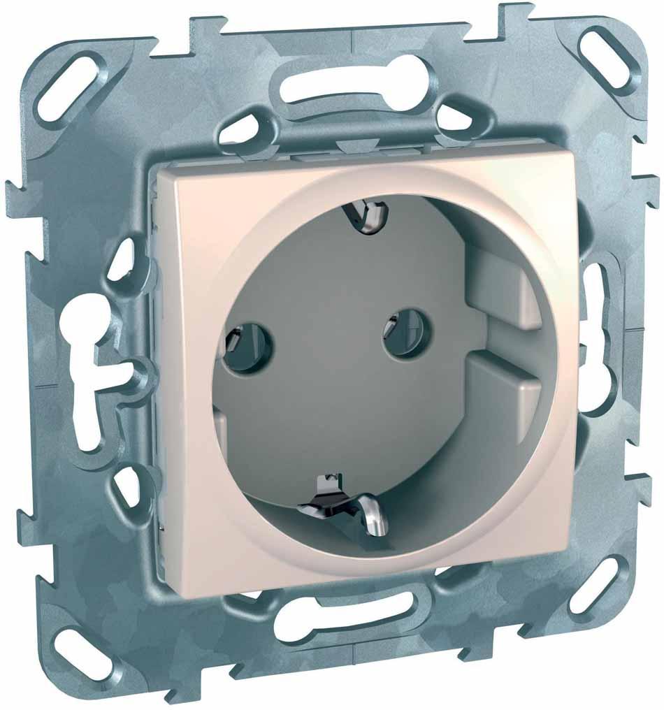 Розетка Schneider Electric Unica, одноместная, цвет: бежевый. MGU5.036.25ZD картридж cubex abs бежевый