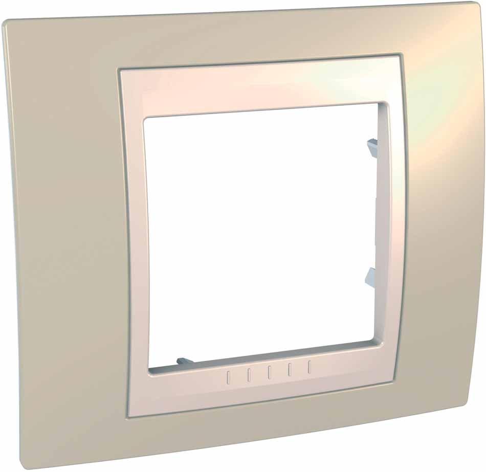 Рамка электроустановочная Schneider Electric Unica, на 1 пост, цвет: песчаный, бежевый. MGU6.002.567 рамка для розеток и выключателей горизонтальная 1 пост цвет бежевый