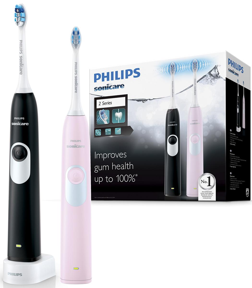 Philips Sonicare 2 Series gum health HX6232/41 набор из 2 электрических зубных щеток зубная щётка philips sonicare 3 series gum health hx9368 35 розовый черный