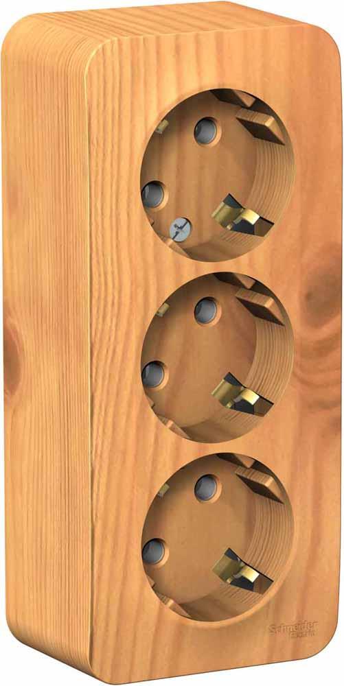 Розетка Schneider Electric Blanca, трехместная, с заземлением, 16А, цвет: ясень. SE BLNRA010315 барабан сцепления в сборе с корпусом zc11 d 26mm тип 4 7з