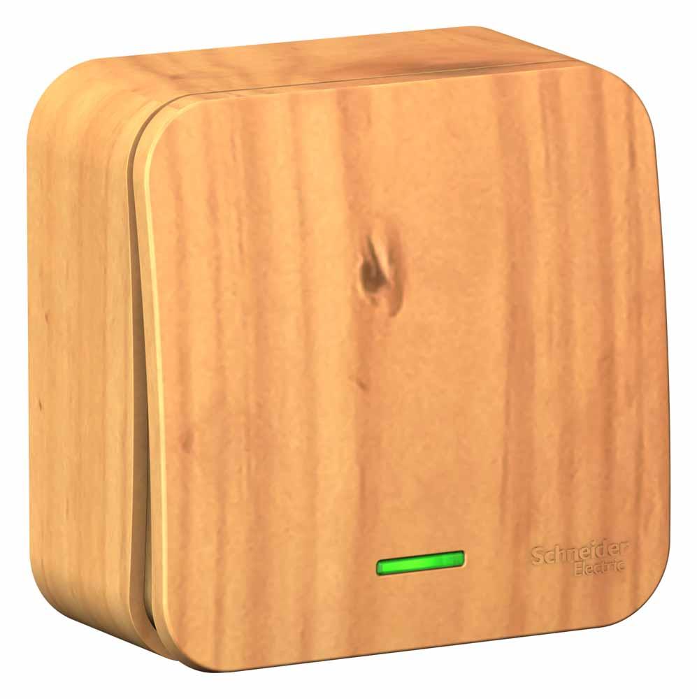 Фото - Выключатель Schneider Electric Blanca, одноклавишный, с подсветкой, цвет: ясень, 10 А. SE BLNVA101115 переключатель schneider electric blanca одноклавишный цвет антрацит 10 а se blnva106016