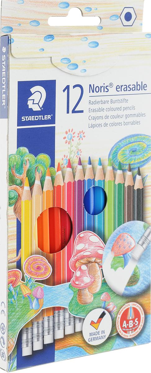 Staedtler Набор цветных карандашей Noris Club с ластиком 12 цветов staedtler мелок восковой noris club 12 цветов
