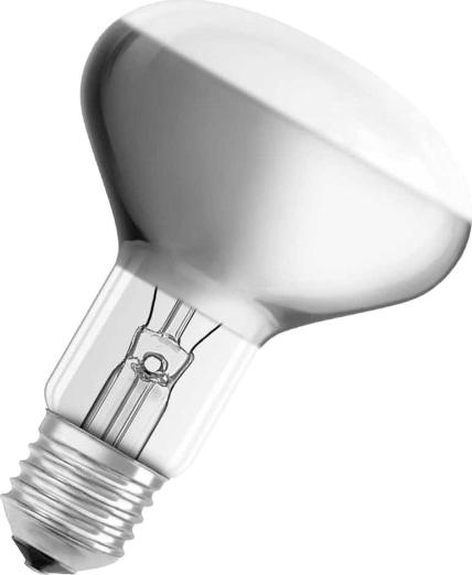 "Лампа накаливания Osram ""Concentra"" R80 60Вт E27. 4052899182332"