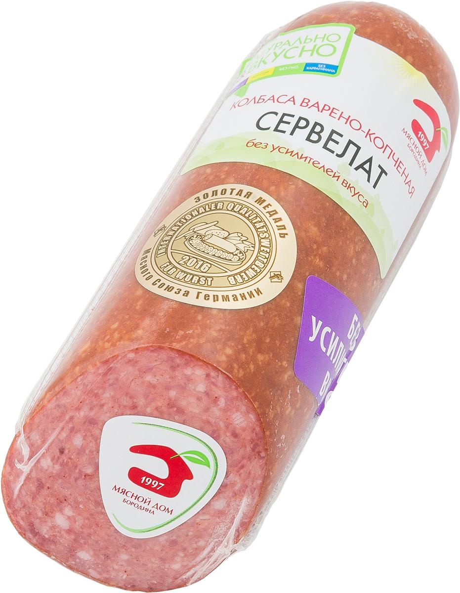 МД Бородина Сервелат колбаса варено-копченая, 320 г велком сервелат московский колбаса варено копченая 740 г