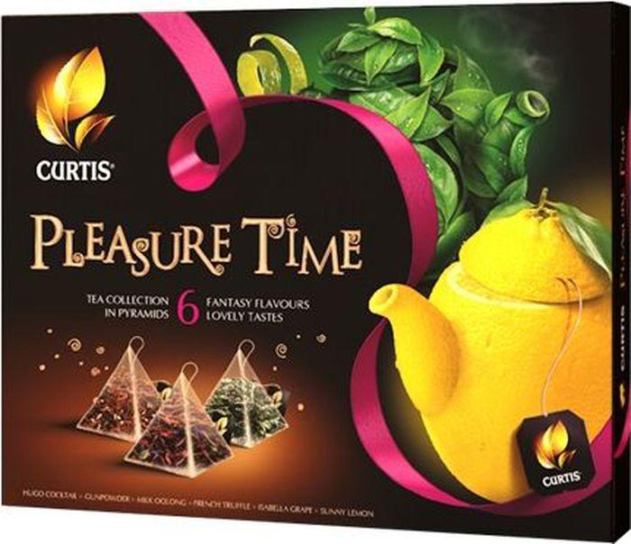 Curtis Pleasure Time желтый, чайное арома-ассорти в пирамидках, 53 г цена 2017