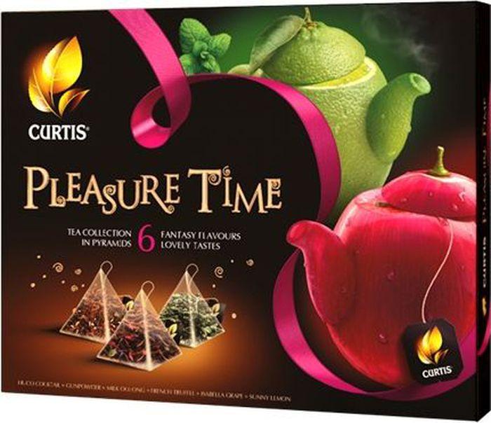 Curtis Pleasure Time розовый, чайное арома-ассорти в пирамидках, 53 г