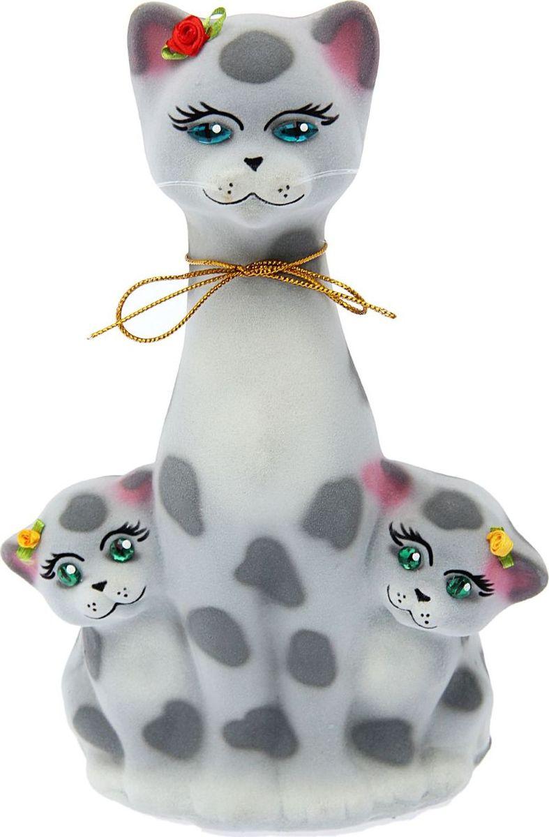 Копилка Керамика ручной работы Кошка с котятами, 12 х 18 х 28 см копилка керамика ручной работы кошка с котенком 15 х 11 х 31 см