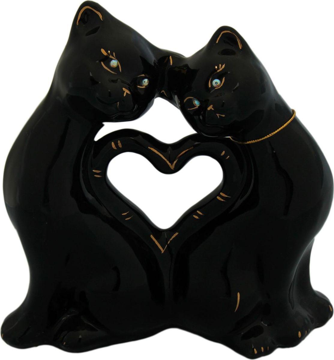 Копилка Керамика ручной работы Коты. Сердце, 9 х 25 х 26 см копилка керамика ручной работы барышня в шляпе 11 х 11 х 32 см