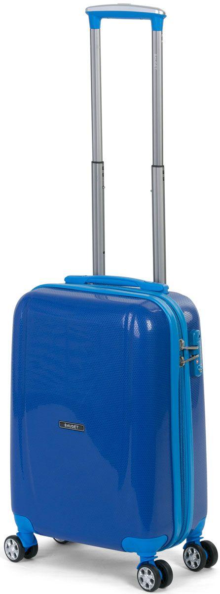 f55c30dea174 Чемодан пластиковый на 4-х колесах BAUDET ROYAL BLUE PP/50