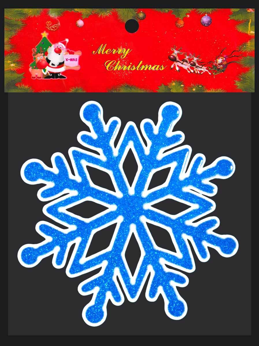 Erich Krause Наклейка на окно Снежинка синяя цена