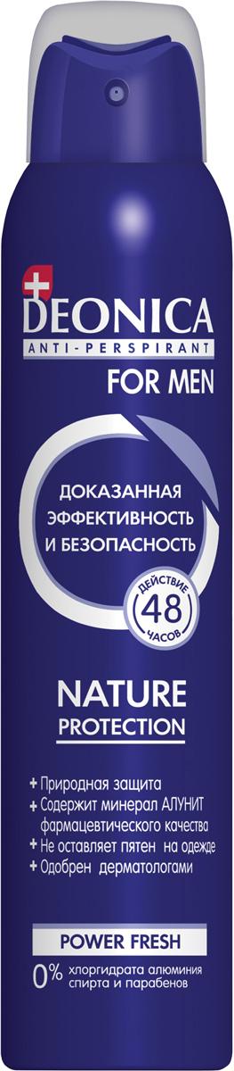 Deonica Дезодорант спрей Nature Protection for Men, 200 мл