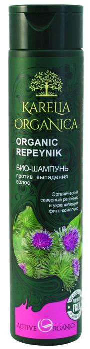 Karelia Organica Био шампунь Organic REPEYNIK Против выпадения волос, 310 мл planeta organica камчатка шампунь био для волос против выпадения 280 мл