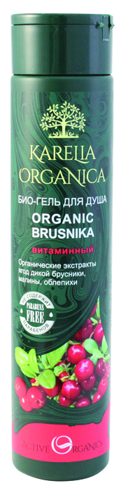 Karelia Organica Био-Гель для душа Organic BRUSNIKA Витаминный, 310 мл свитер brusnika brusnika br032ewwsp92