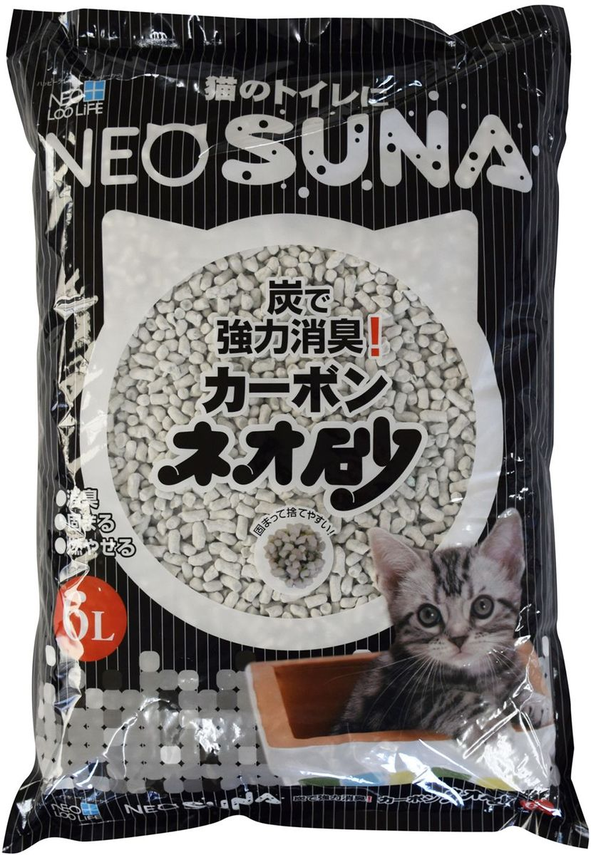 Наполнитель для кошачьего туалета Кочо Neo Loo Life, комкующийся, с активированным углем, 6 л наполнитель для кошачьего туалета neo loo life комкующийся на основе соевых бобов 6л