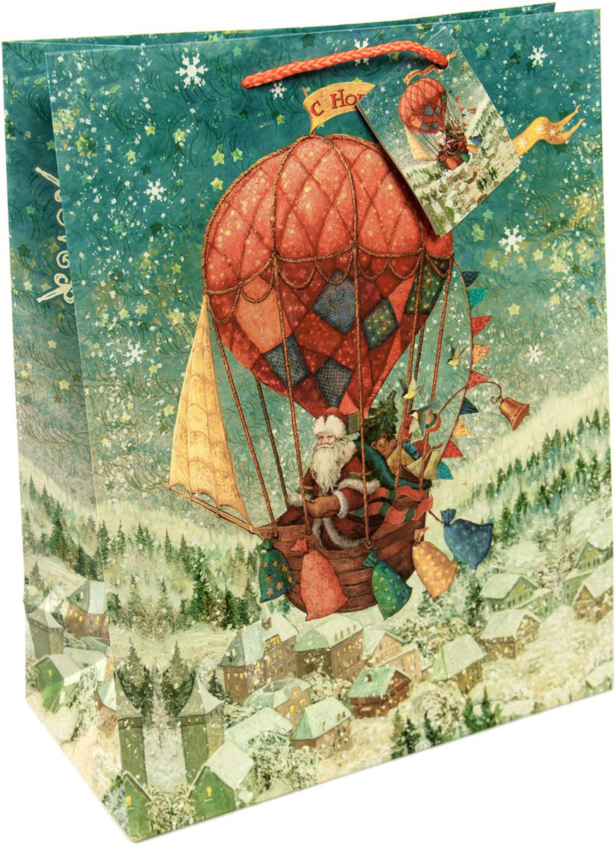 "Пакет подарочный Magic Time ""Доставка подарков"", 17,8 х 22,9 х 9,8 см"