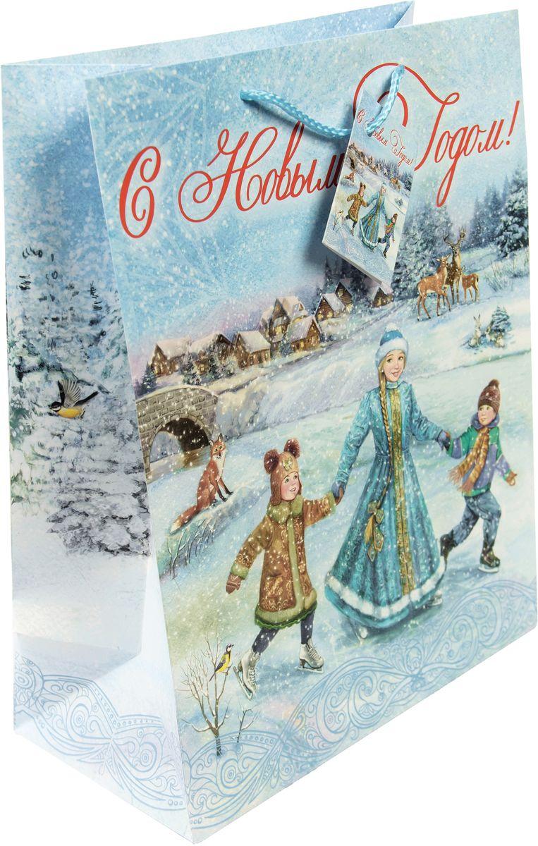 Пакет подарочный Magic Time Зимние забавы, 17,8 х 22,9 х 9,8 см зимние забавы раскраска