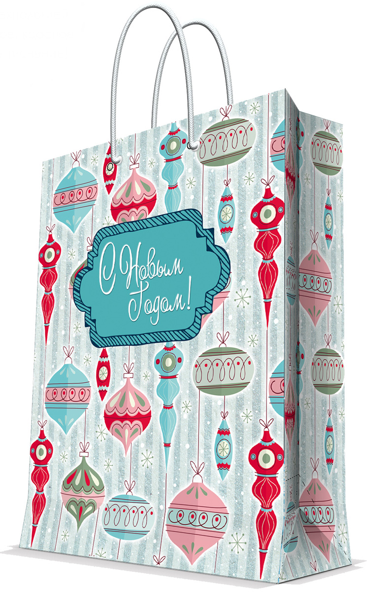 Пакет подарочный Magic Time Стеклянные сосульки, 26 х 32,4 х 12,7 см пакет подарочный magic time дед мороз и дети 26 х 32 4 х 12 7 см