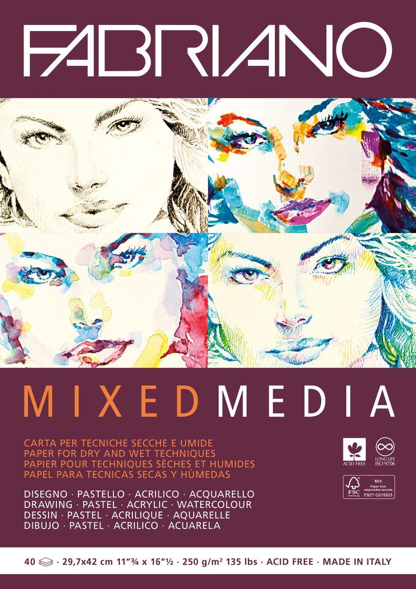 Фото - Fabriano Альбом для рисования Mixed Media 40 листов 19100381 canson альбом для смешанных техник xl mix media 14 8 х 21 см 15 листов