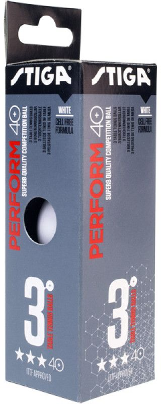 Шарики для пинг-понга Stiga Perform 3-Звезды ABS, цвет: белый, 3 шт шарики для пинг понга atemi 1 бел белый 6