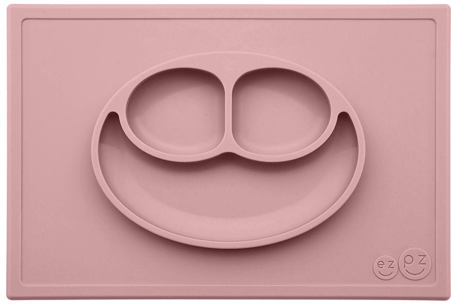 цена на Ezpz Тарелка детская Happy Mat цвет нежно-розовый