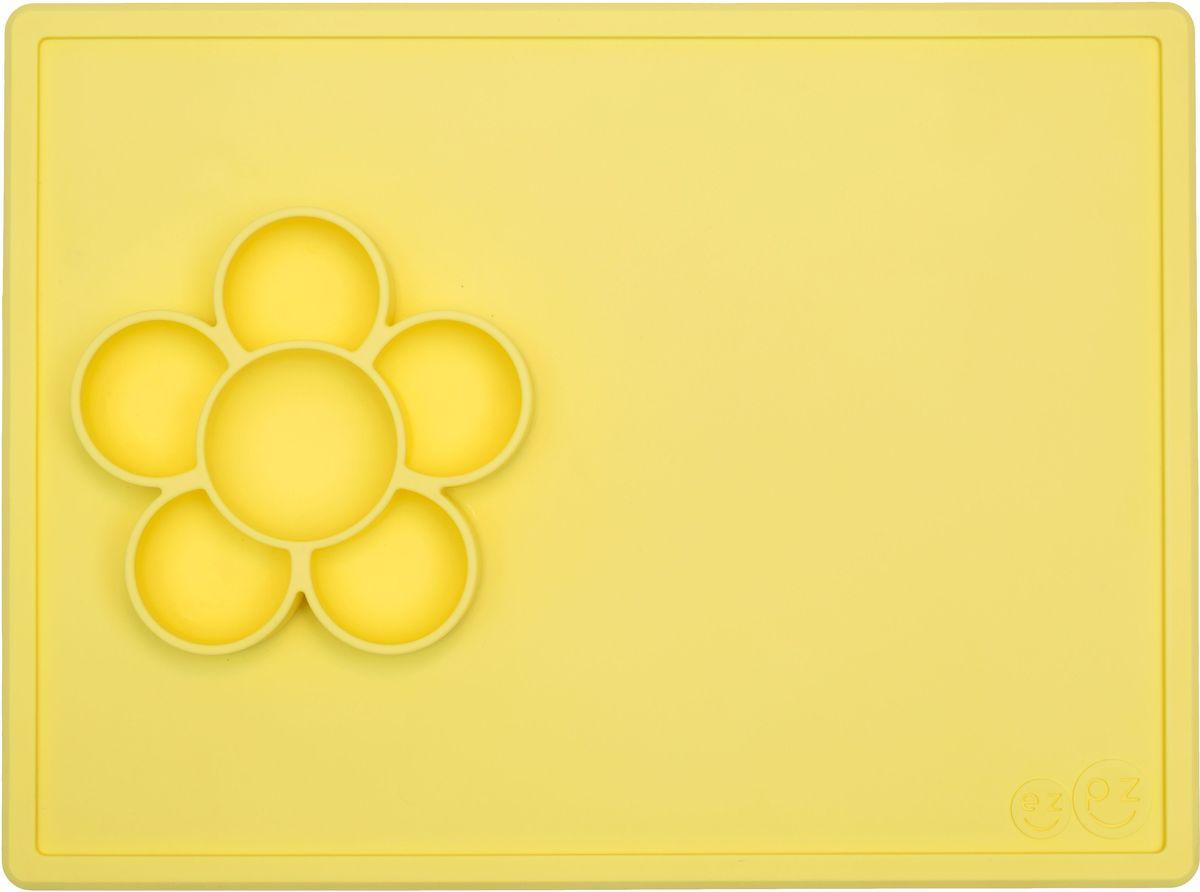 цена на Ezpz Тарелка детская Play Mat цвет лимонный