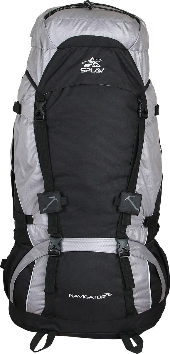 Рюкзак туристический Сплав Navigator 75, цвет: серый, черный, 75 л рюкзак туристический сплав goblin 70 цвет черный 70 л