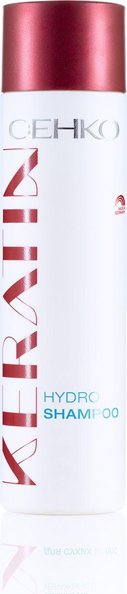 C:EHKO Keratin Шампунь увлажняющий для сухих волос, 250 млA9889700Шампунь увлажняющий с кератином, пантенолом и экстрактом белого чая увлажняет сухие волосы, не утяжеляя их, а также придает им здоровый и блеск. Насыщенная кератином формула активных компонентов заметно улучшает структуру волос и придает им превосходную эластичность.