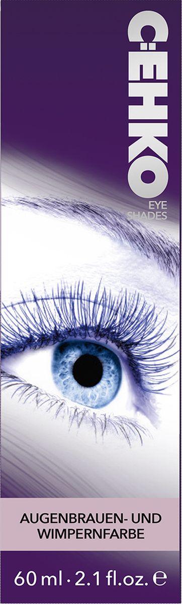 C:EHKO Краска для бровей и ресниц Eye Shades, Коричневый, 60 мл