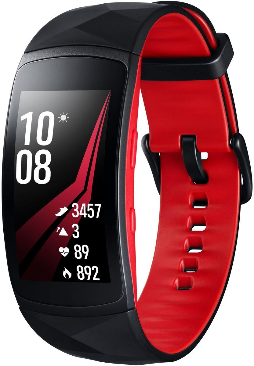 Умные часы Samsung GearFit2 Pro SM-R365, размер L, черный, красный не работает samsung