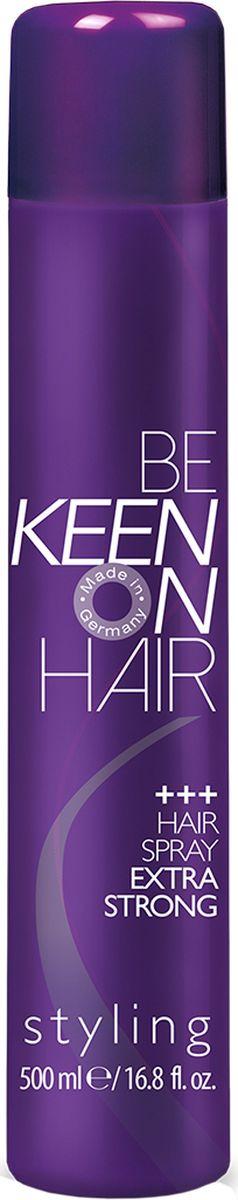 Keen Спрей для волос экстрасильной фиксации, 500 мл спрей моделирующий экстрасильной фиксации vavoom shape maker 400 мл
