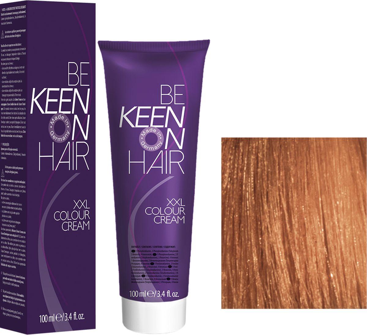 Keen Краска для волос 7.34 Натуральный золотисто-медный блондин Mittelblond Gold-Kupfer, 100 мл