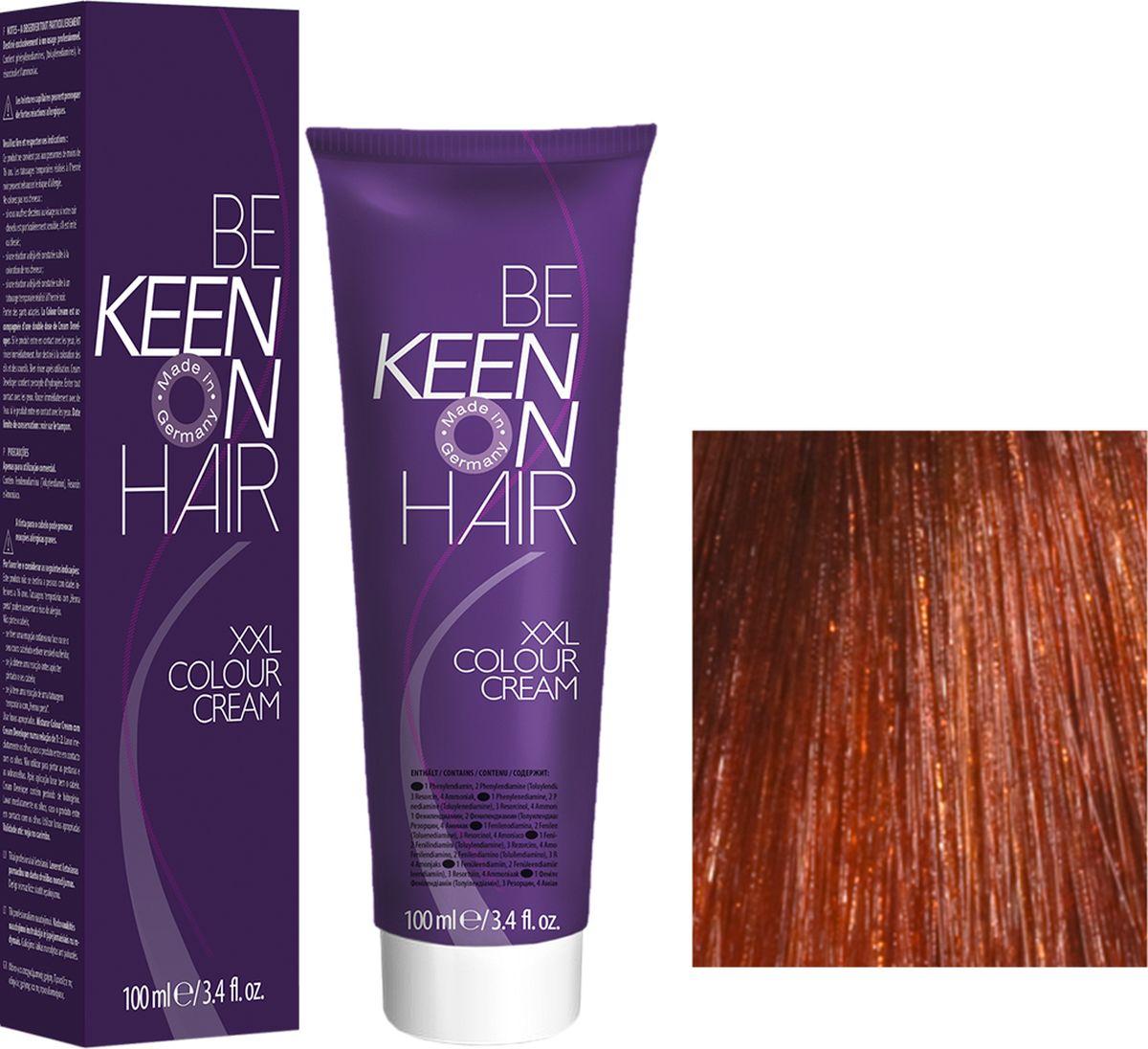 Keen Краска для волос 7.4 Натуральный медный блондин Mittelblond Kupfer, 100 мл