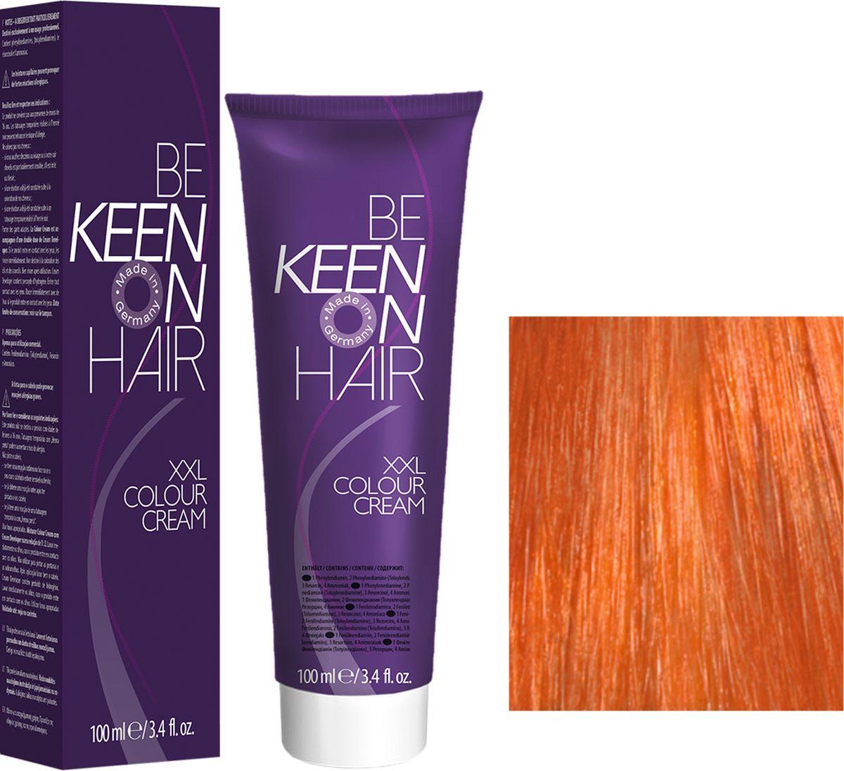 Keen Краска для волос 7.43 Натуральный медно-золотистый блондин Mittelblond Kupfer-Gold, 100 мл