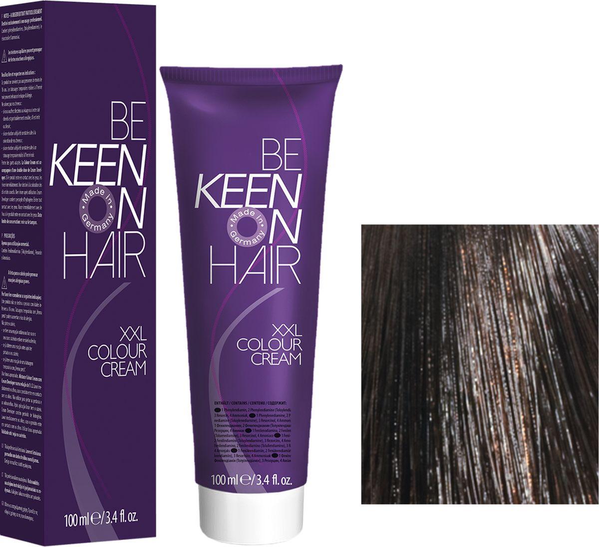 Keen Краска для волос 7.71 Кораллово-коричневый Koralle Braun, 100 мл